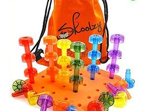 Stacking Crystal Peg Board Set Educational Toys