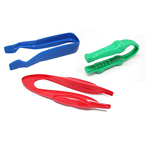 3 CHUNKY Safety Plastic Tongs/Tweezers